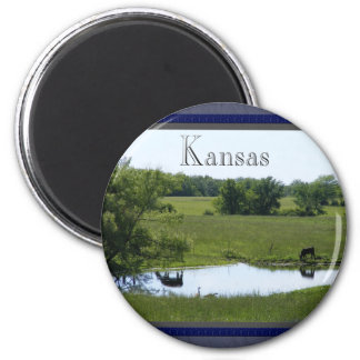 Country Reflection 2 Inch Round Magnet