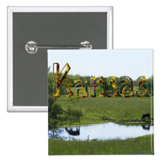 Country Reflection 2 Inch Square Button