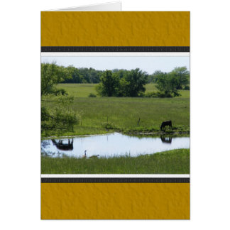 Country Reflection Greeting Card