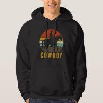 Country Retro Cowboy Western Horse Rider Hoodie