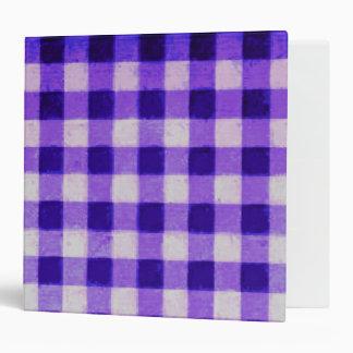 Country Retro Gingham Lavender Purple Binder