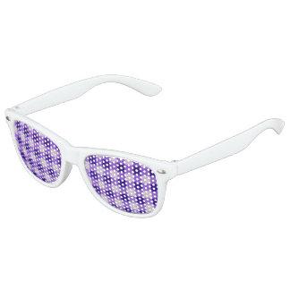 Country Retro Gingham Lavender Purple Kids Sunglasses