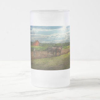 Country - Ringoes, NJ - Preparing for crops Frosted Glass Beer Mug