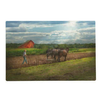 Country - Ringoes, NJ - Preparing for crops Laminated Placemat