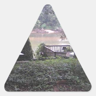 Country River Triangle Sticker