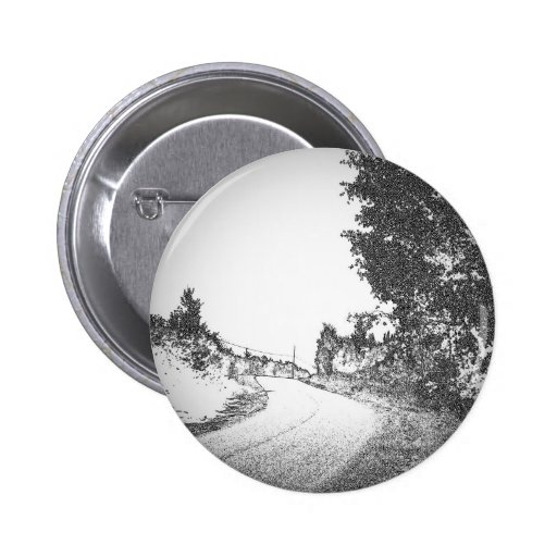 Country Road 2 Inch Round Button