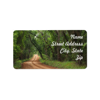 Country Road Background Address Sticker Label