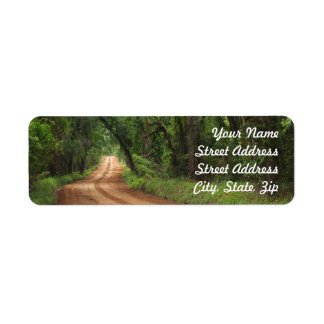 Country Road Background Return Address Sticker Label