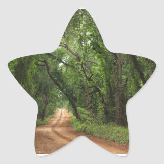 Country Road Background Star Sticker