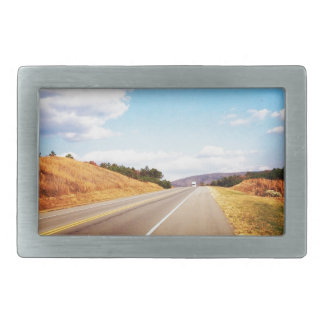 Country road belt buckle