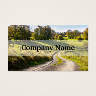 Country Road Between Green Meadows Landscape Business Card