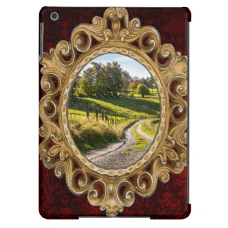 Country Road Between Green Meadows Landscape Cover For iPad Air