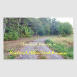 Country Road Bookplate Rectangle Stickers