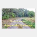 Country Road Bookplate Rectangular Sticker