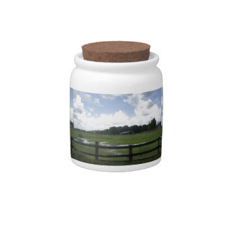 Country Road Candy Jar