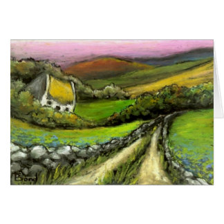 Country Road Cottage Greeting Card