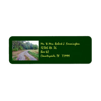 Country Road Custom Avery Label