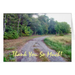 Country Road Custom Thank You Card