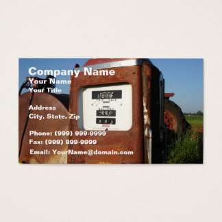 Country Road Gas Station Business Card