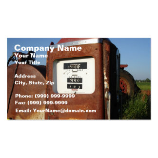 Country Road Gas Station Business Cards