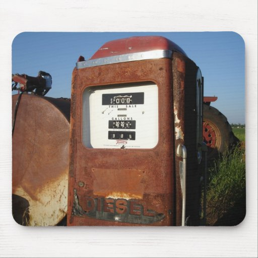 Country Road Gas Station Mouse Pad