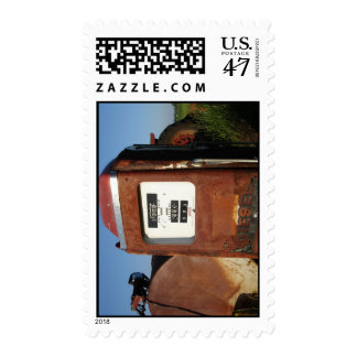 Country Road Gas Station Postage Stamp
