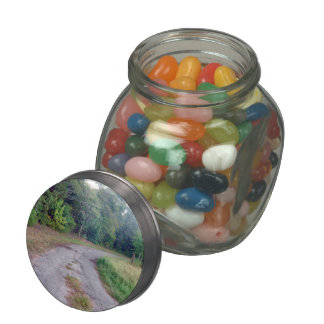 Country Road Glass Jar