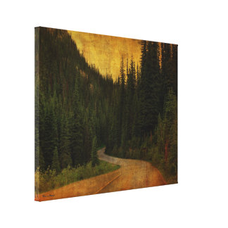 Country Road Grunge Canvas Wrap Canvas Print