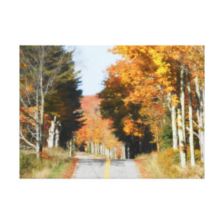 Country Road High Peaks Lake Placid Autumn Leaves Canvas Print