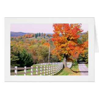 """""""COUNTRY ROAD IN AUTUMN"""" GREETING CARD"""