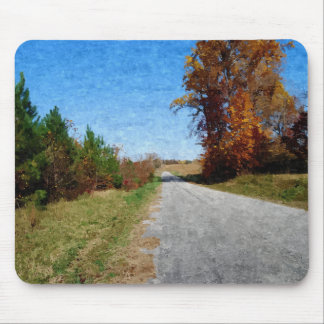 Country Road In Autumn mousepad
