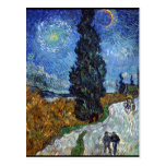 Country Road in Provence by Night Postcard