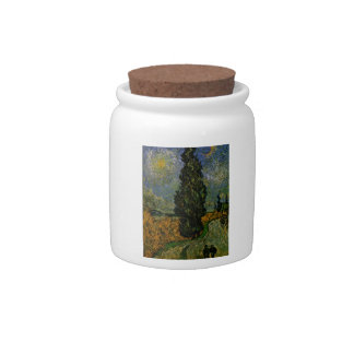 Country road in Provence - Van Gogh Candy Dish