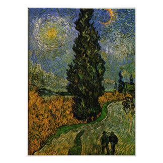 Country road in Provence - Van Gogh Photo Print