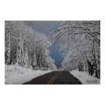 Country Road in the Snow Poster