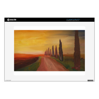 Country Road In Tuscany Italy At Sunset Skin For Laptop