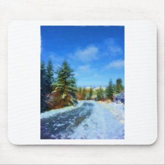 Country Road in Winter Mouse Pad