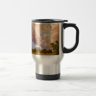 Country Road Into The Storm Front Travel Mug