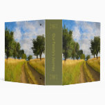 Country Road Landscape Painting Binder