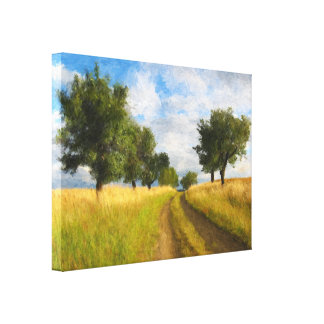 Country Road Landscape Painting Canvas Print