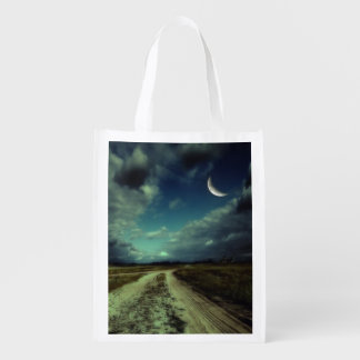 Country road leading to the church grocery bag