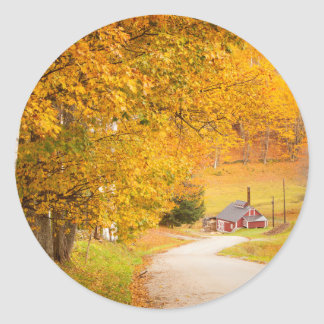 Country Road Leading To The Sugar Mill Classic Round Sticker