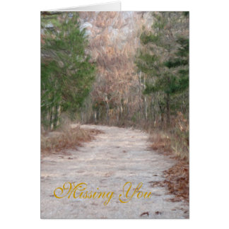 country road, Missing You Card