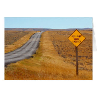 Country Road Open Range Wyoming Card