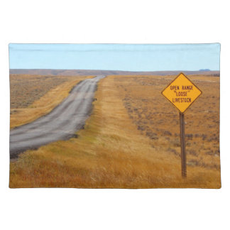 Country Road Open Range Wyoming Western Placemat