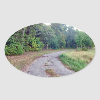 Country Road Oval Sticker