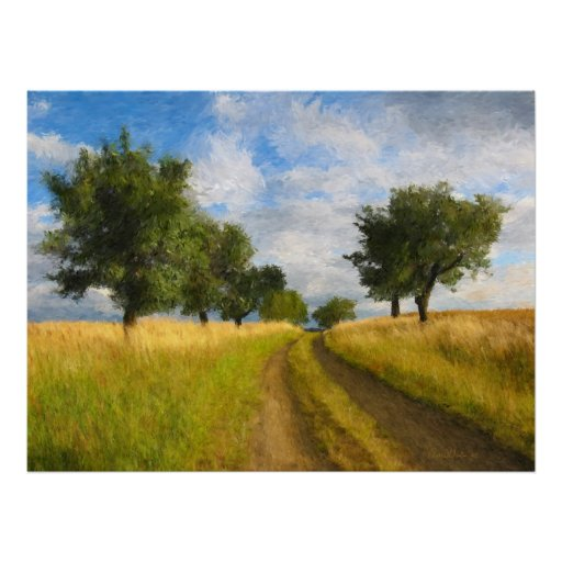 Country Road Painting Poster