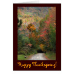 Country Road Thanksgiving Greeting Card