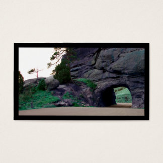 country road tunnel business card
