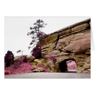 country road tunnel card